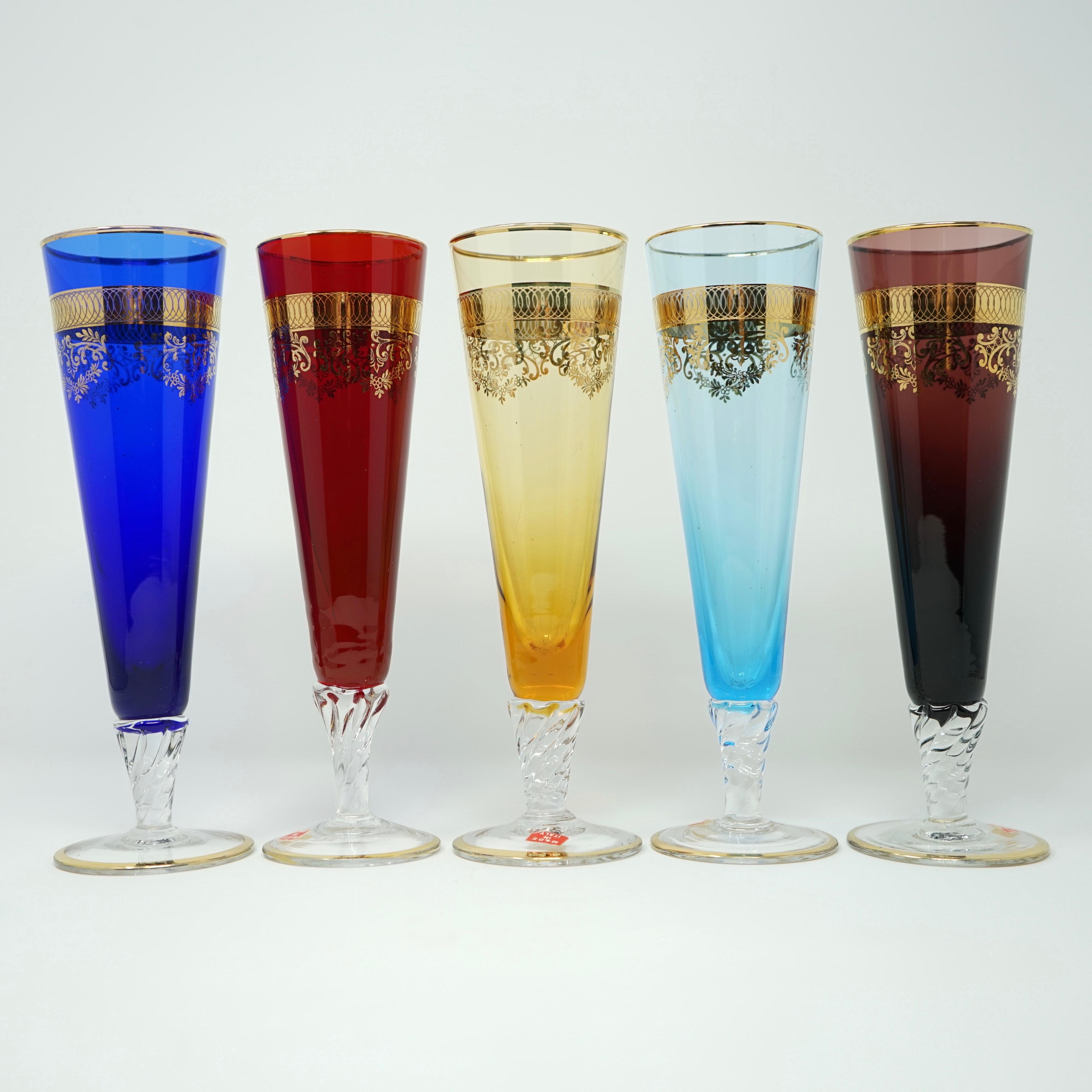 Cinq Flûtes à Champagne de Murano