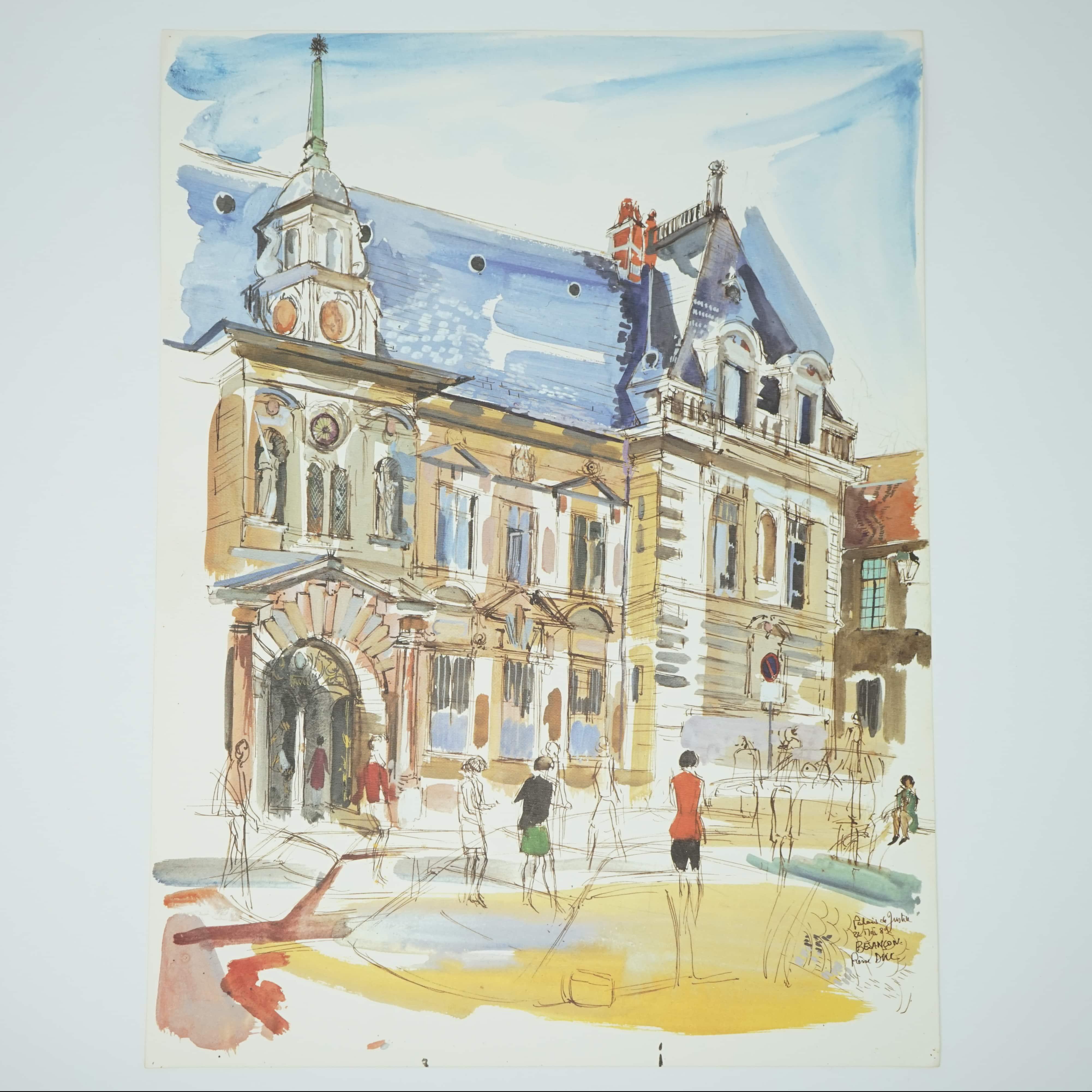 Palais de Justice à Besançon par Pierre Duc