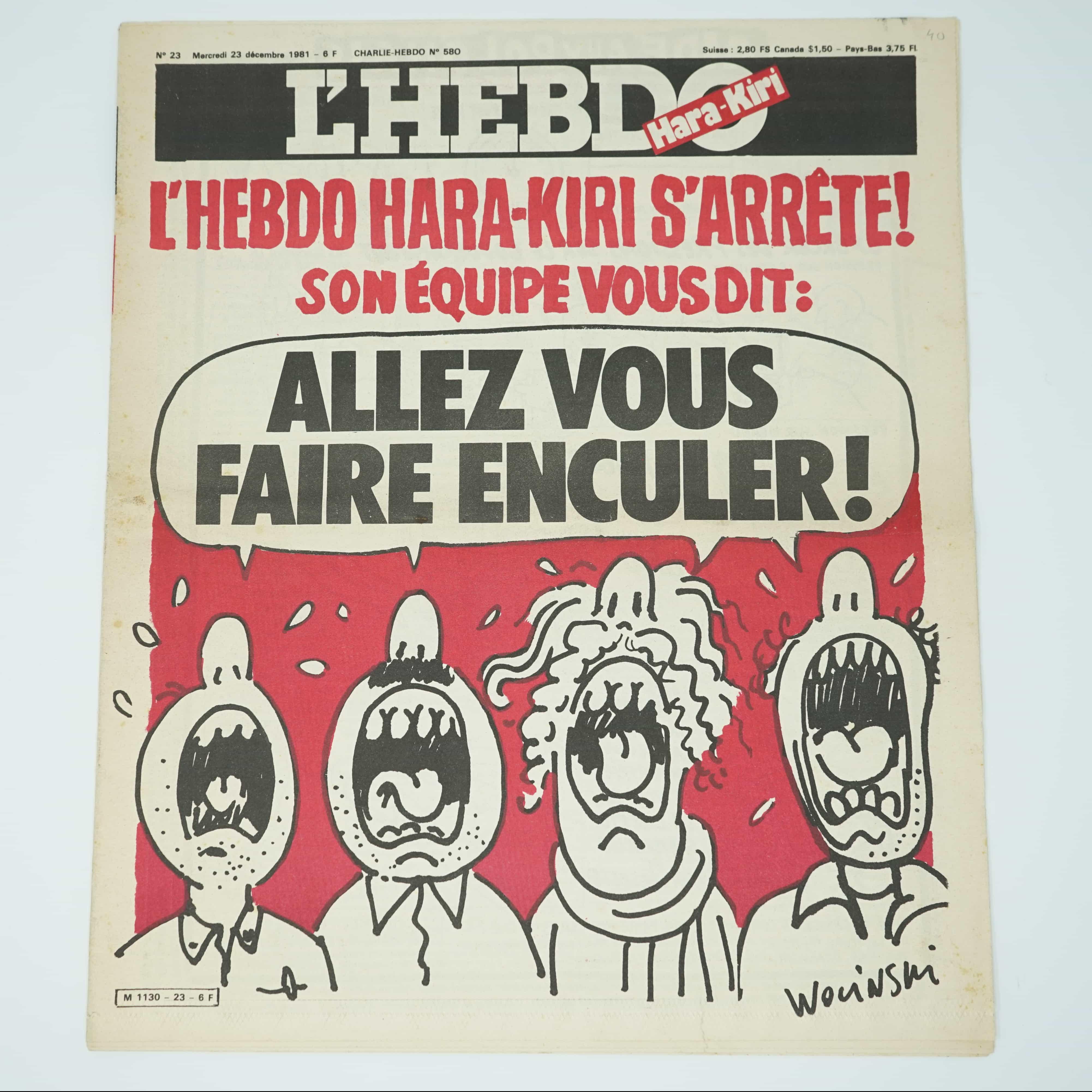 L'Hebdo Hara-Kiri Année 1981