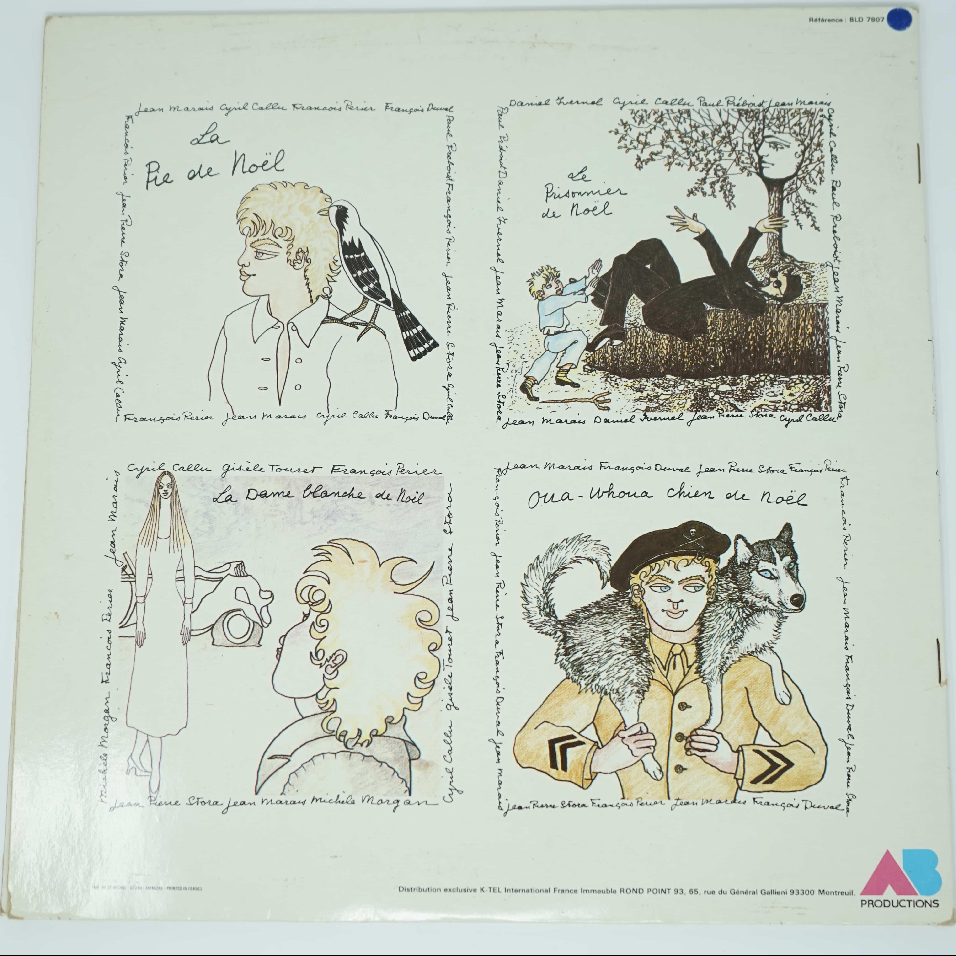 Disque Vinyle Quatre Contes de Jean Marais