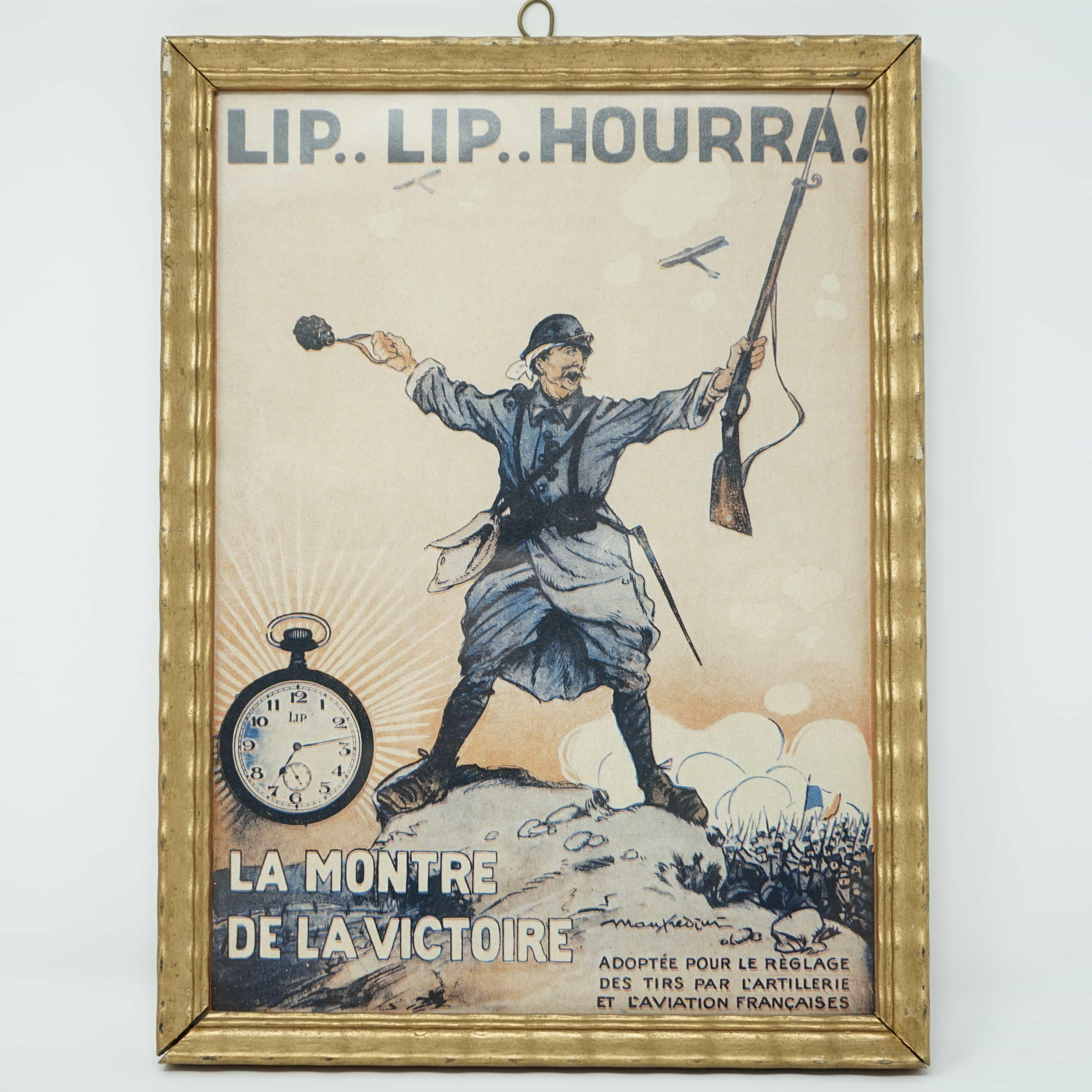 Affiche Lip Lip Hourra Encadrée