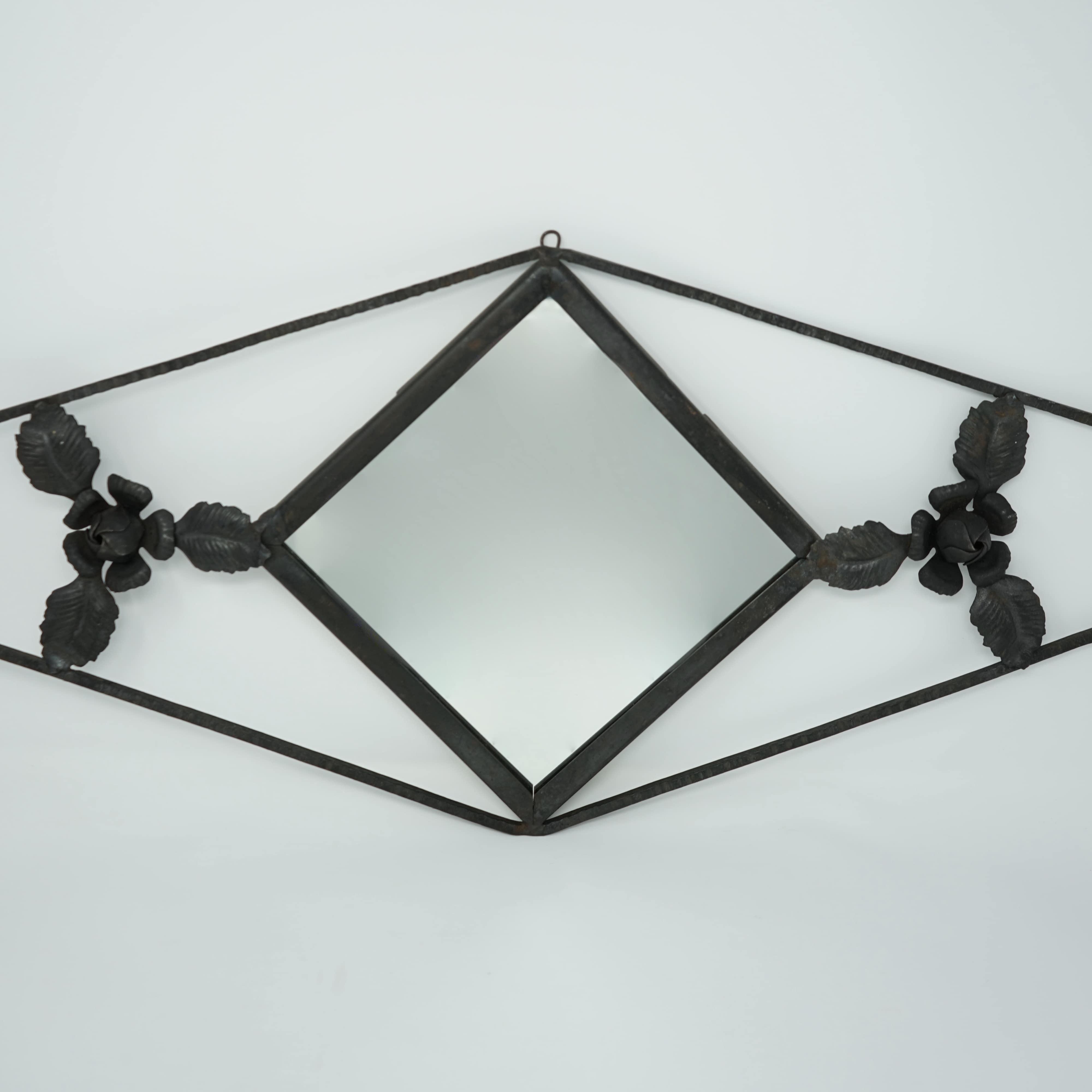 Miroir Art Nouveau en Fer Forgé