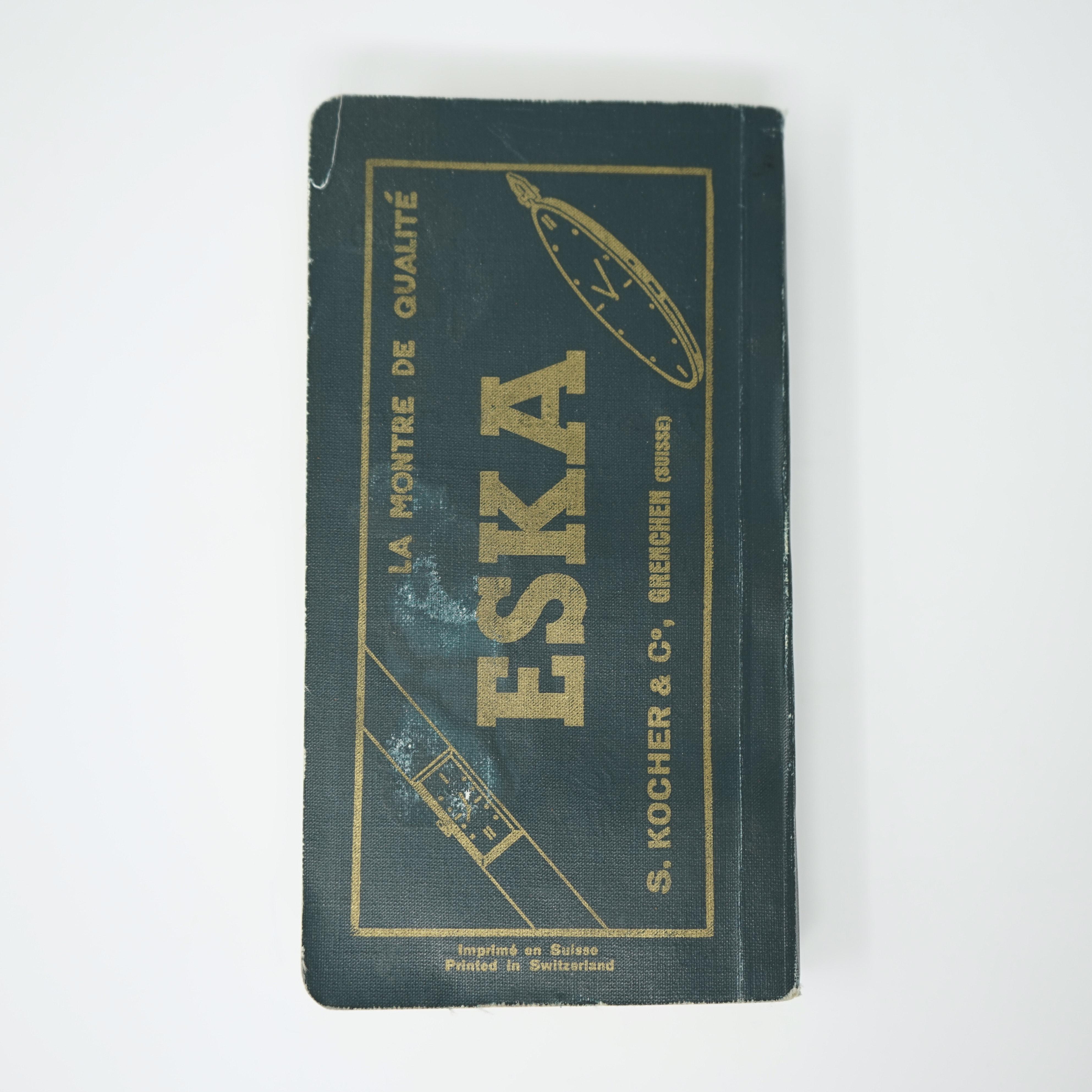 Livre Guide de L'horlogerie Suisse 1940 couverture arrière