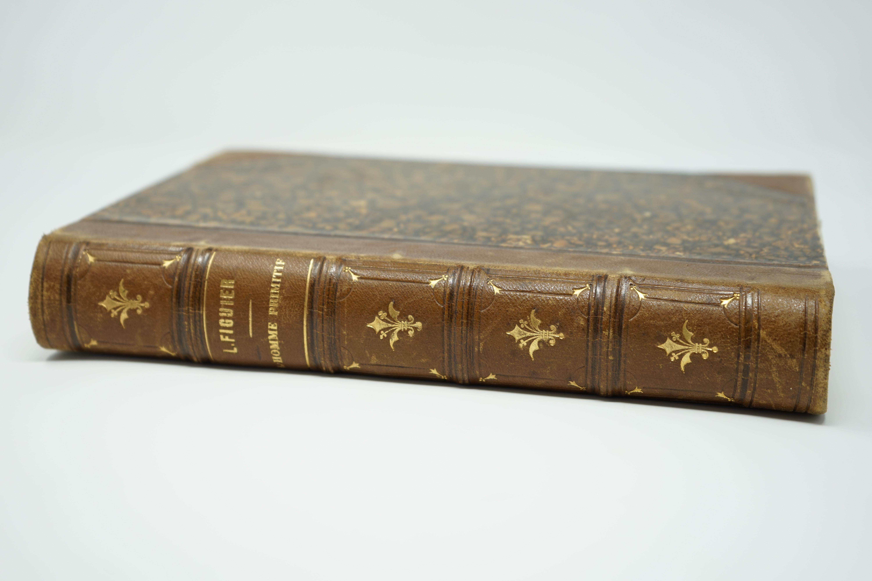 Livre Ancien L'homme Primitif par Louis Figuier Tranche
