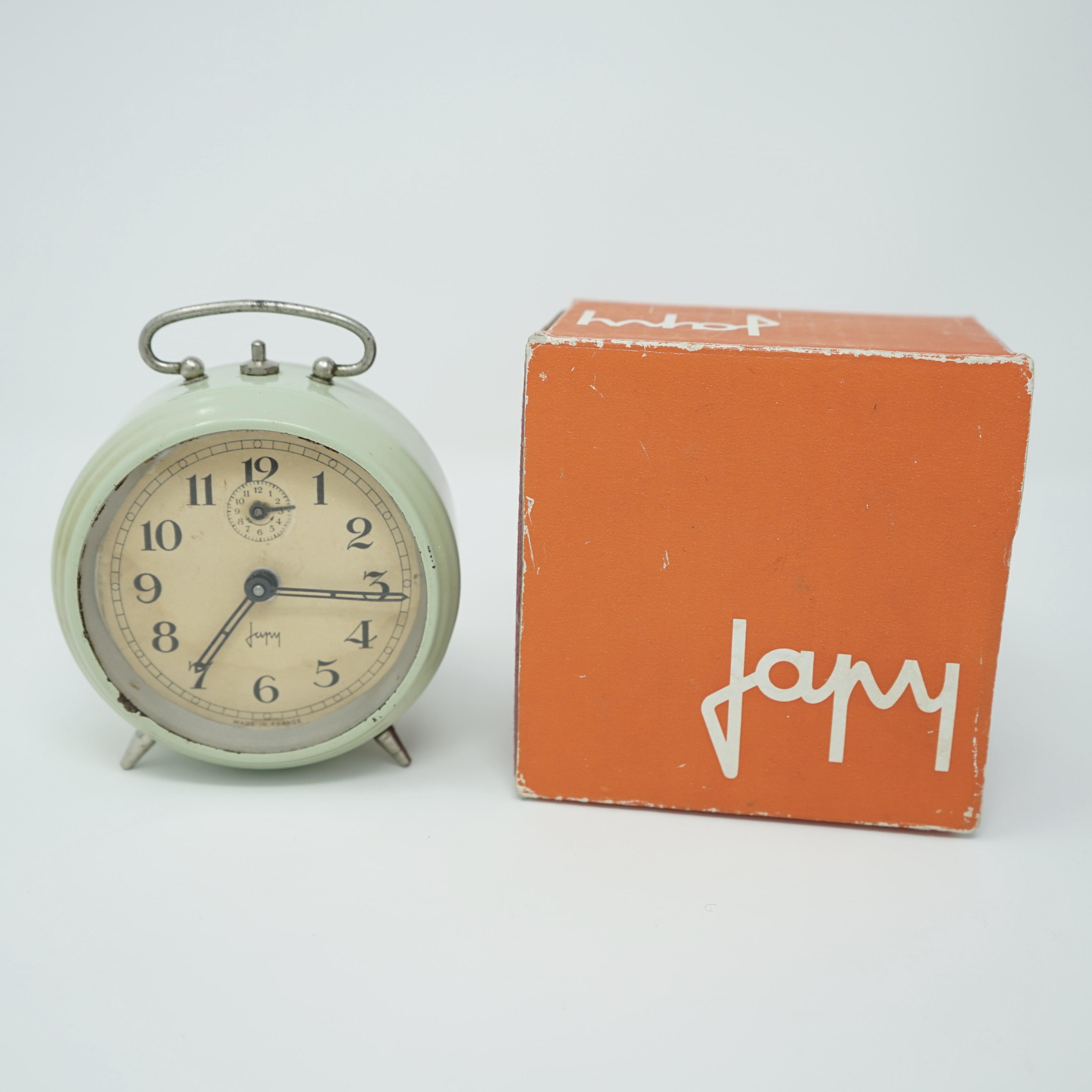 Réveil Mécanique Japy Vert avec Boîte