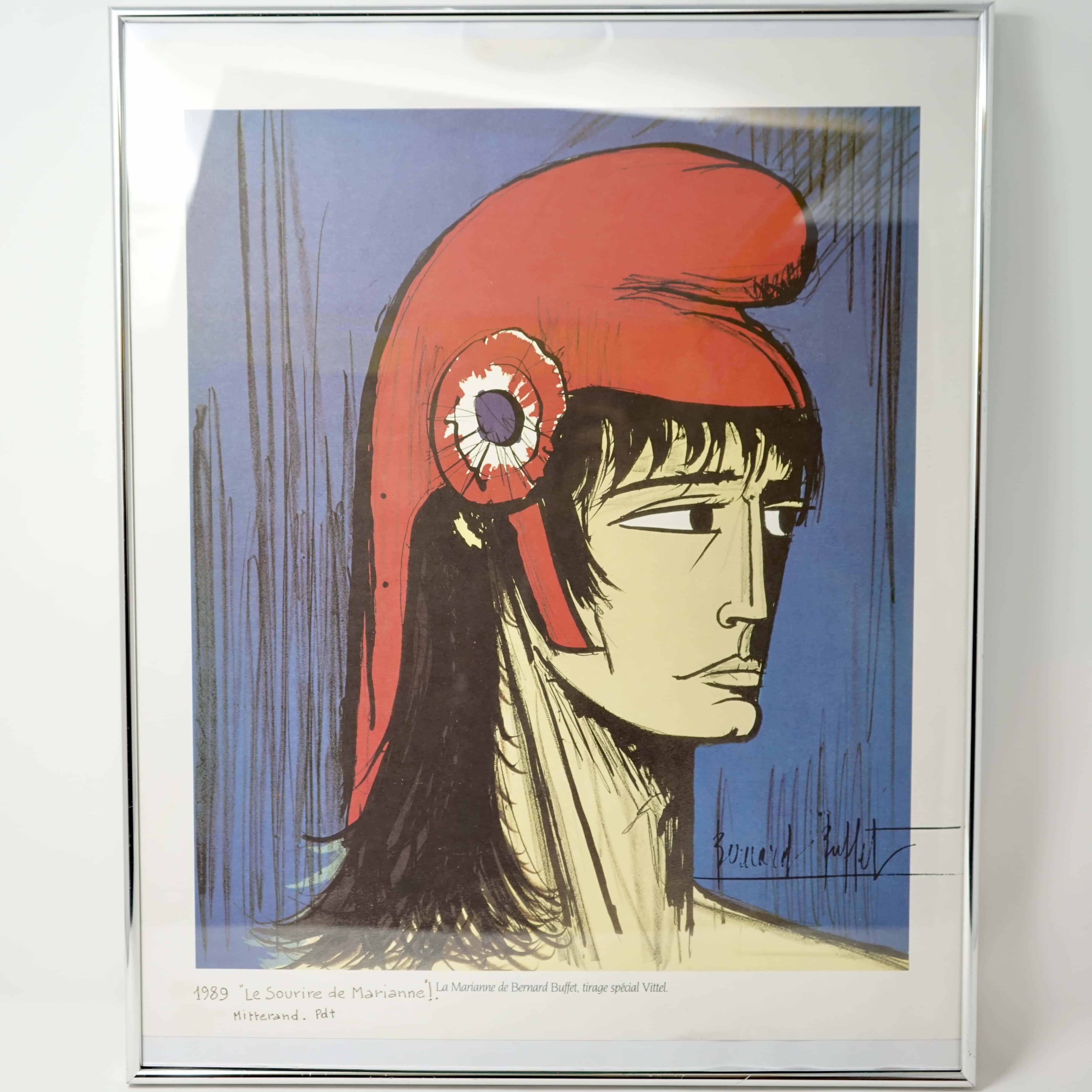 Affiche Bernard Buffet Le Sourire de Marianne 1989