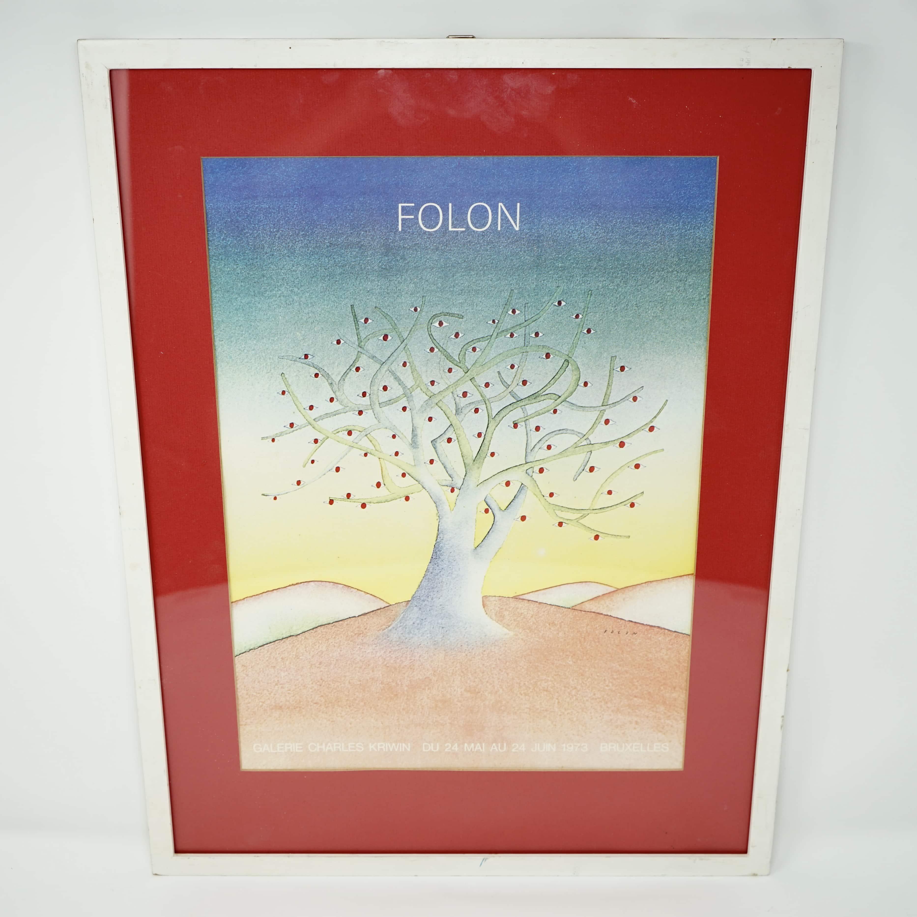 Affiche L'Arbre Aux Yeux de Folon 1973