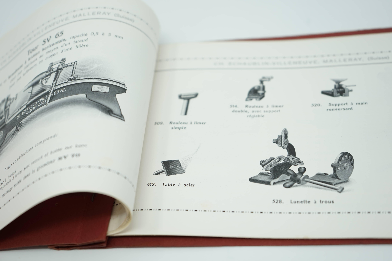 Plaquette Tours de Précision Machines pour l'Horlogerie Pinces Américaines Intérieur