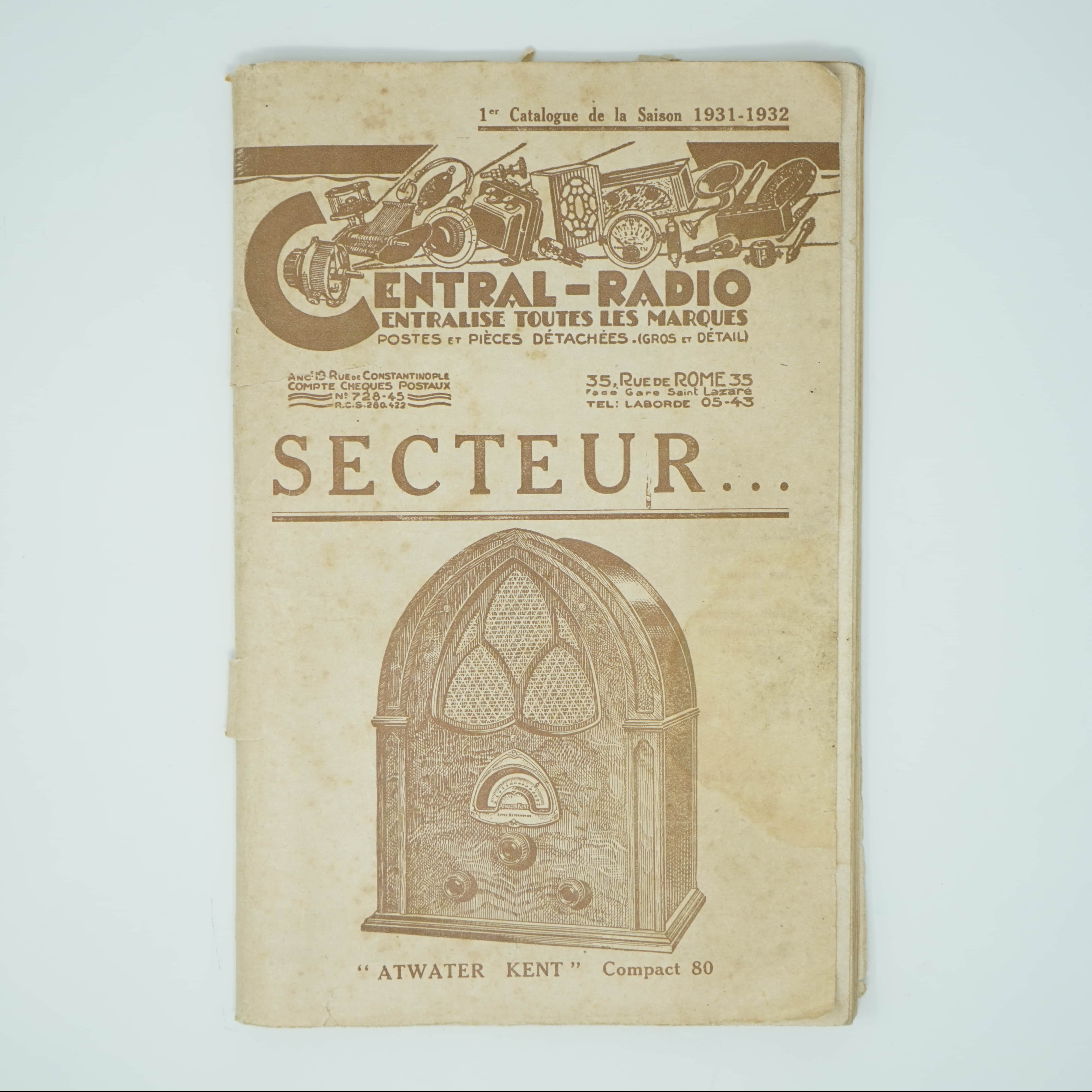 Catalogue Ancien Central-Radio couverture