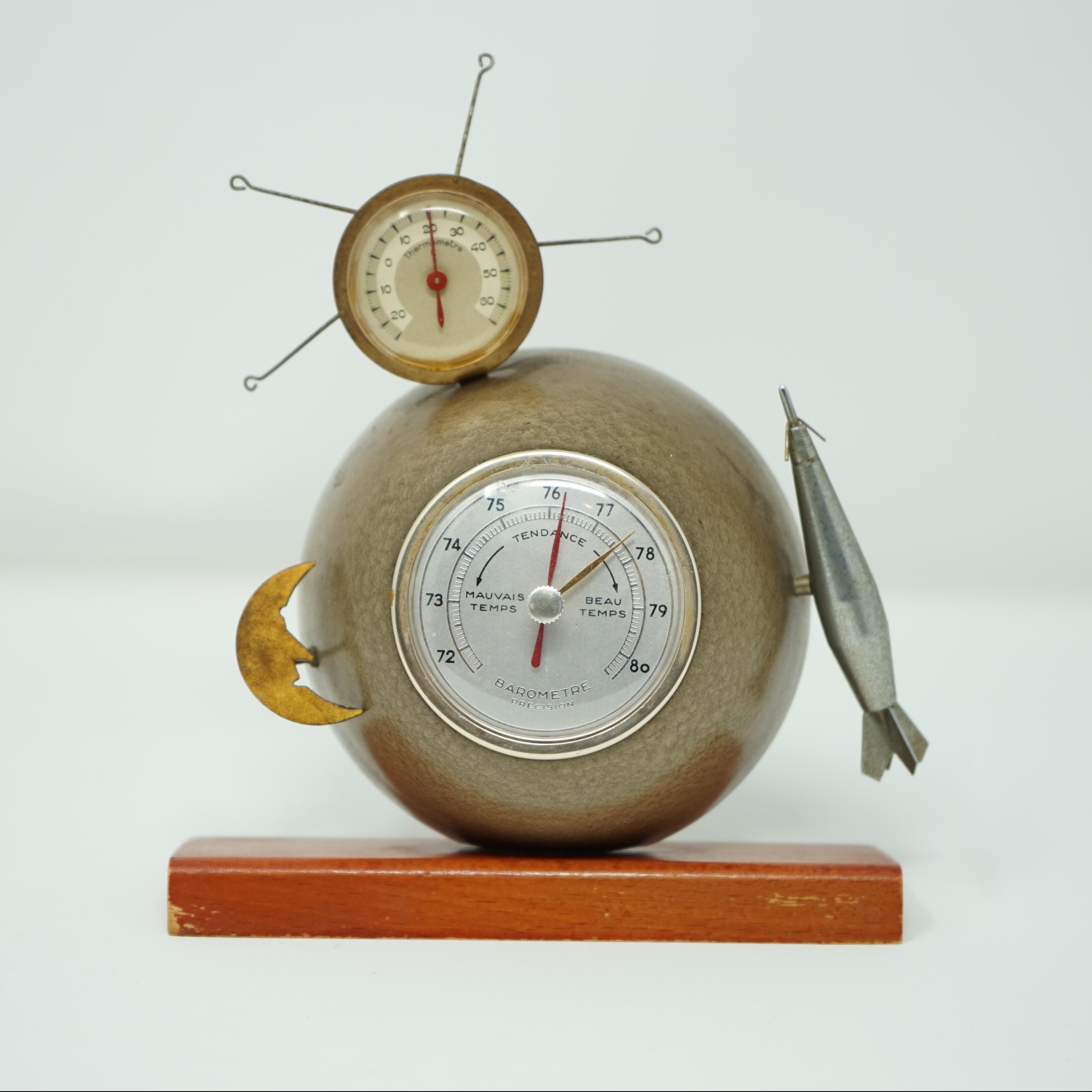 Baromètre Thermomètre Précision Spoutnik face