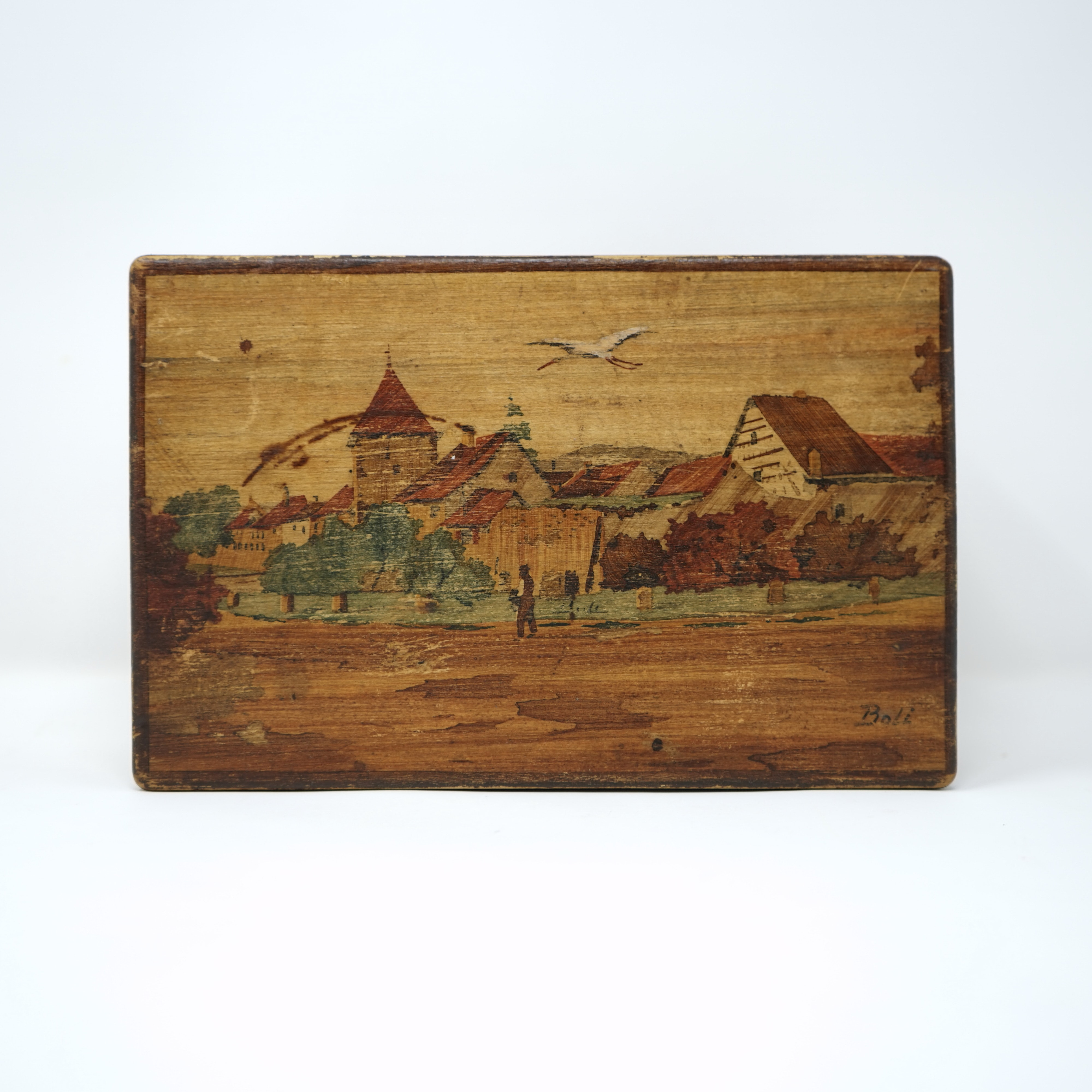 Boîte en Bois Signée Boli