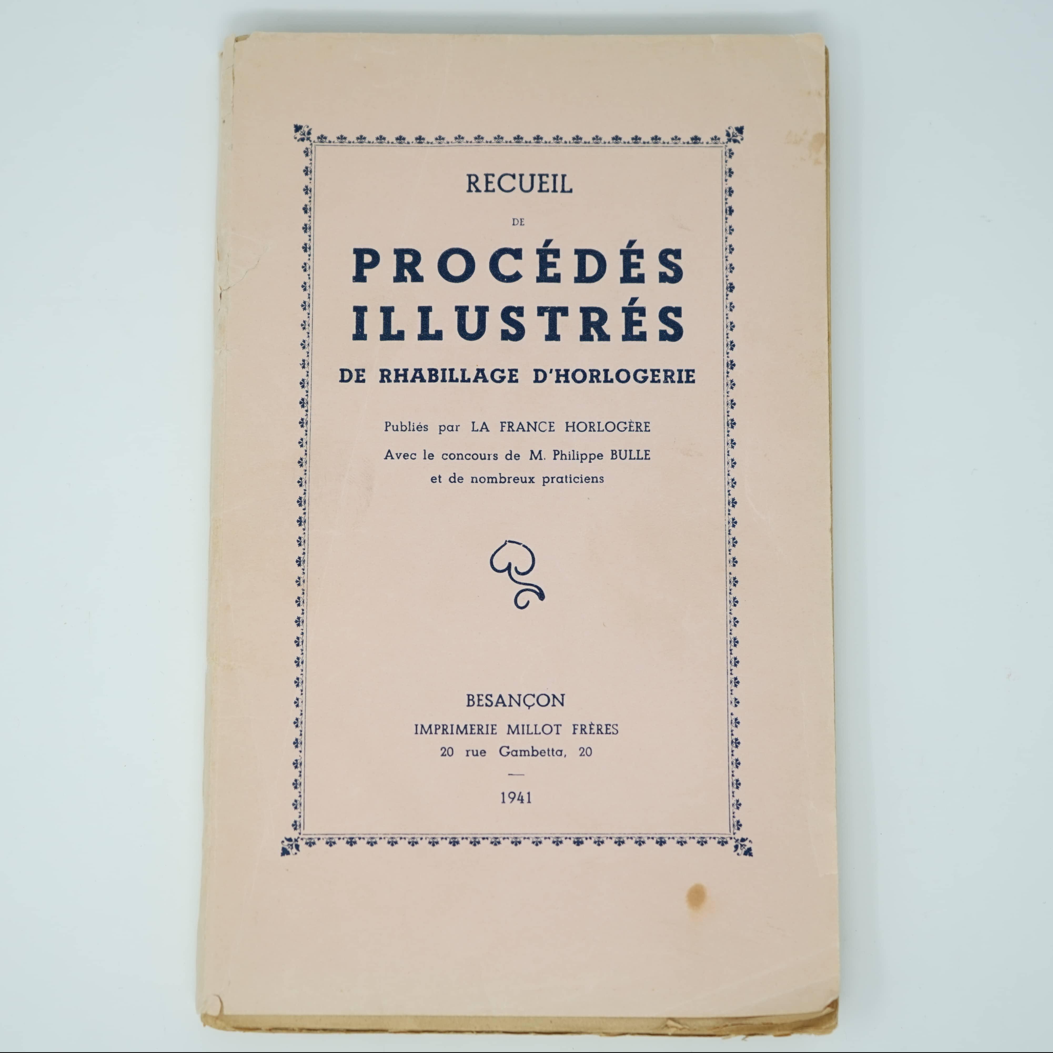 Livre Recueil de Procédés Illustrés couverture