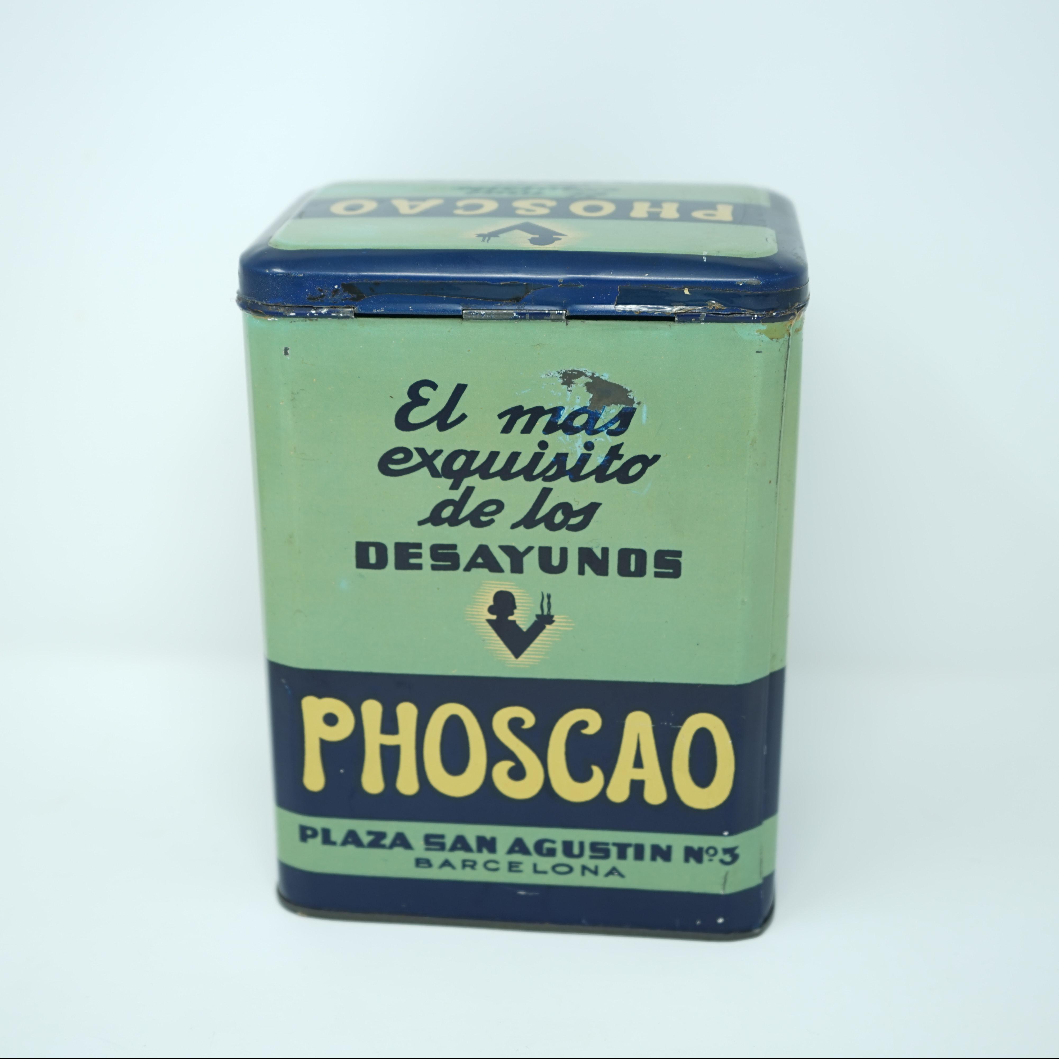 Boîte Publicitaire Phoscao Galletas derrière