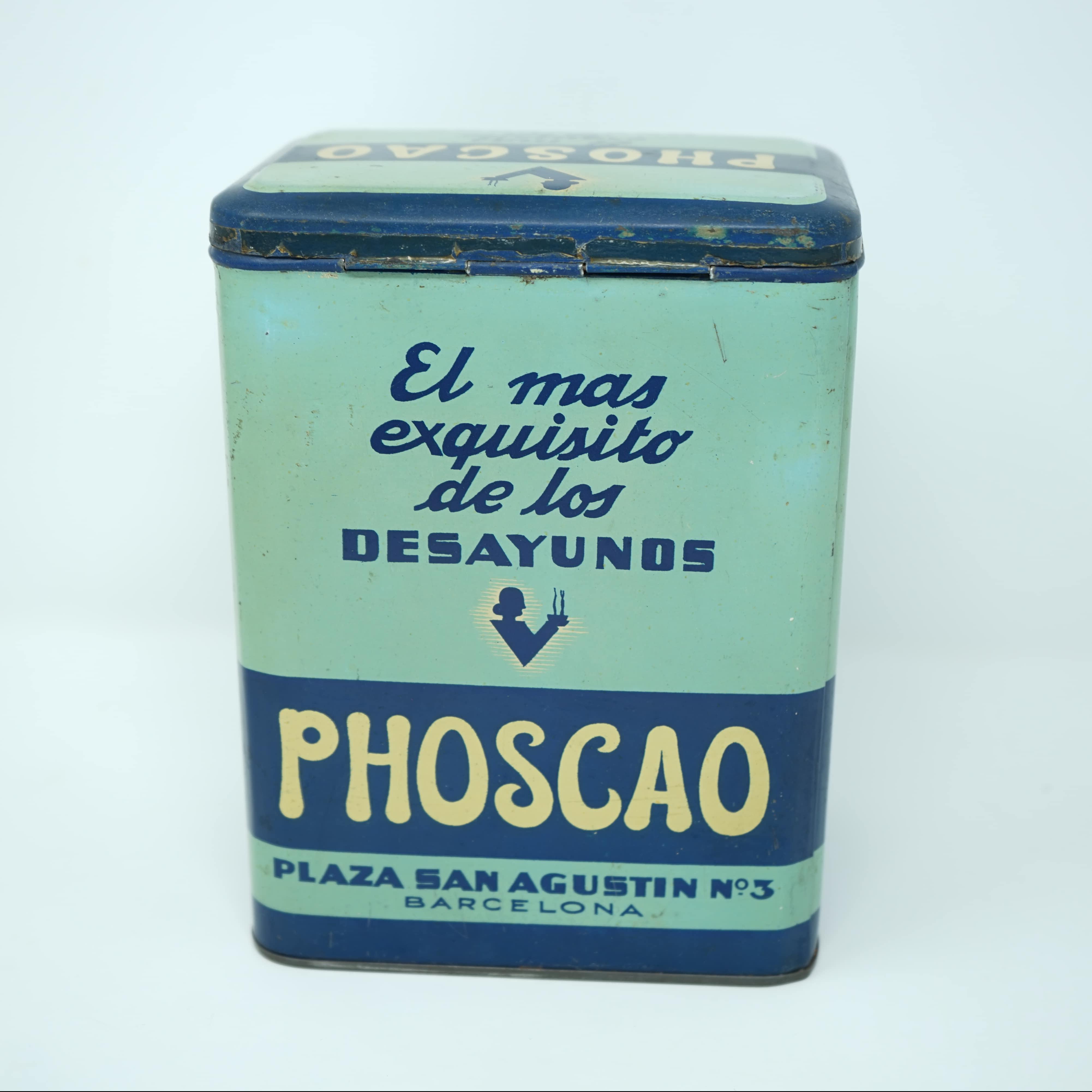 Boîte Publicitaire Phoscao Café derrière