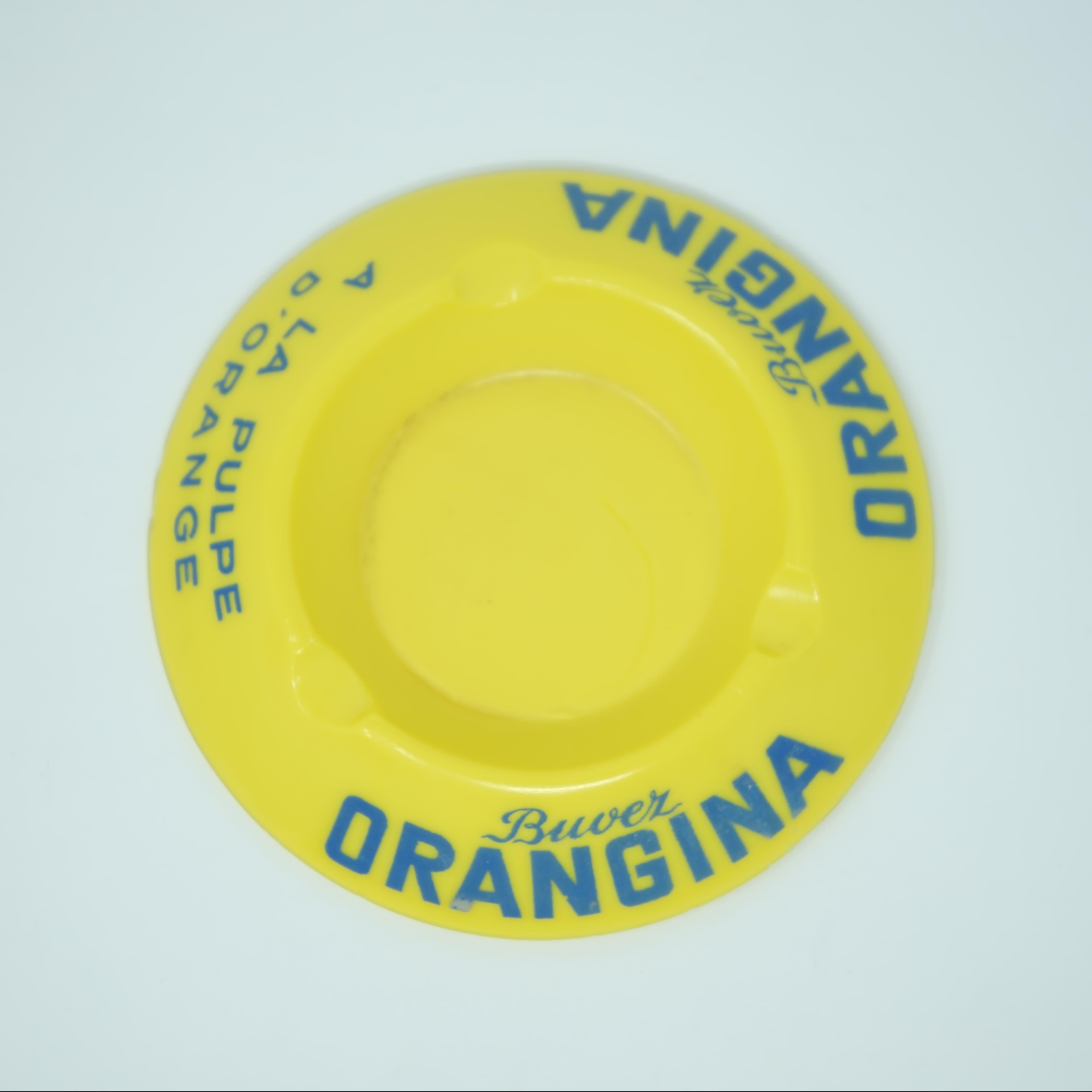 Cendrier Orangina en Opaline