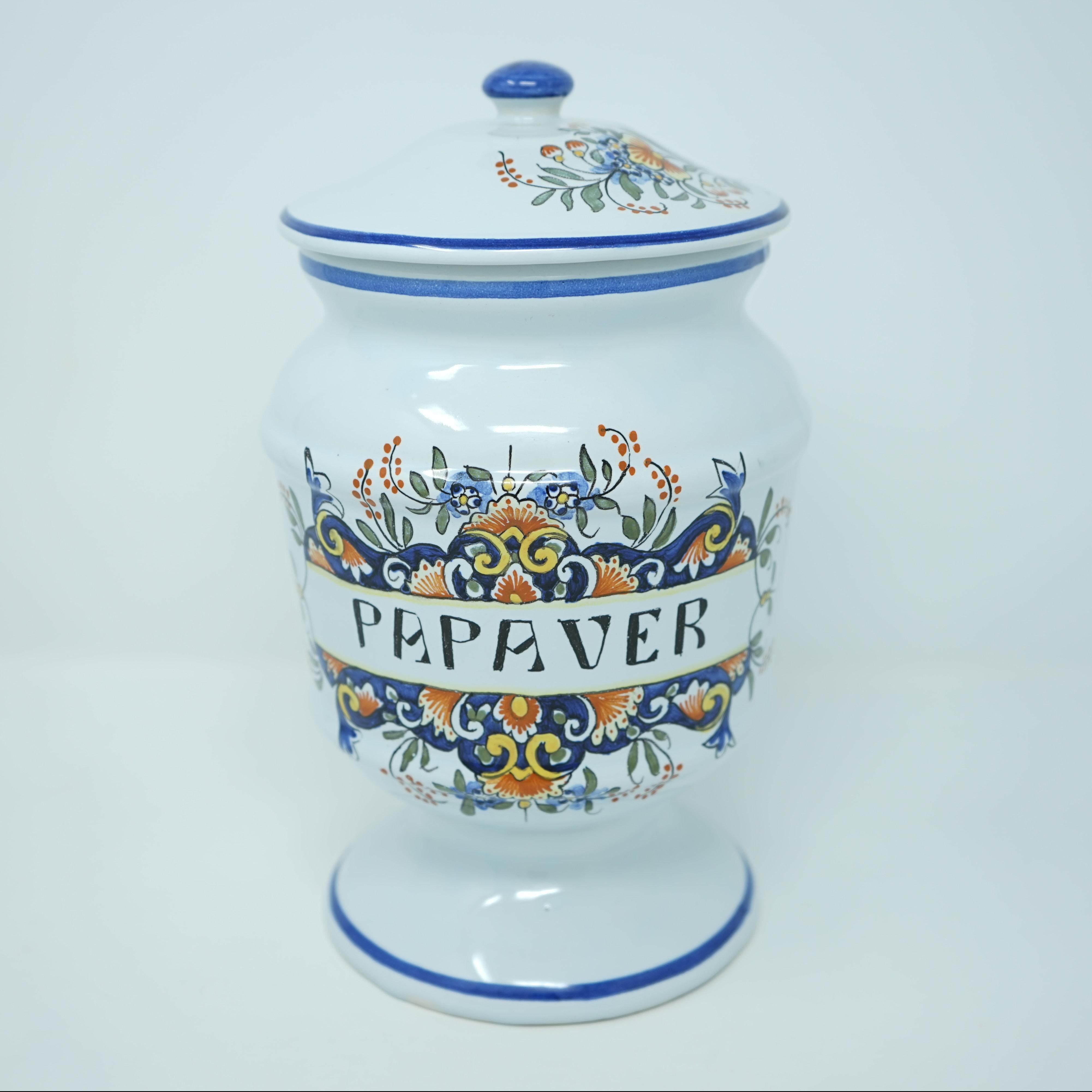 Pot à Pharmacie Pavot devant