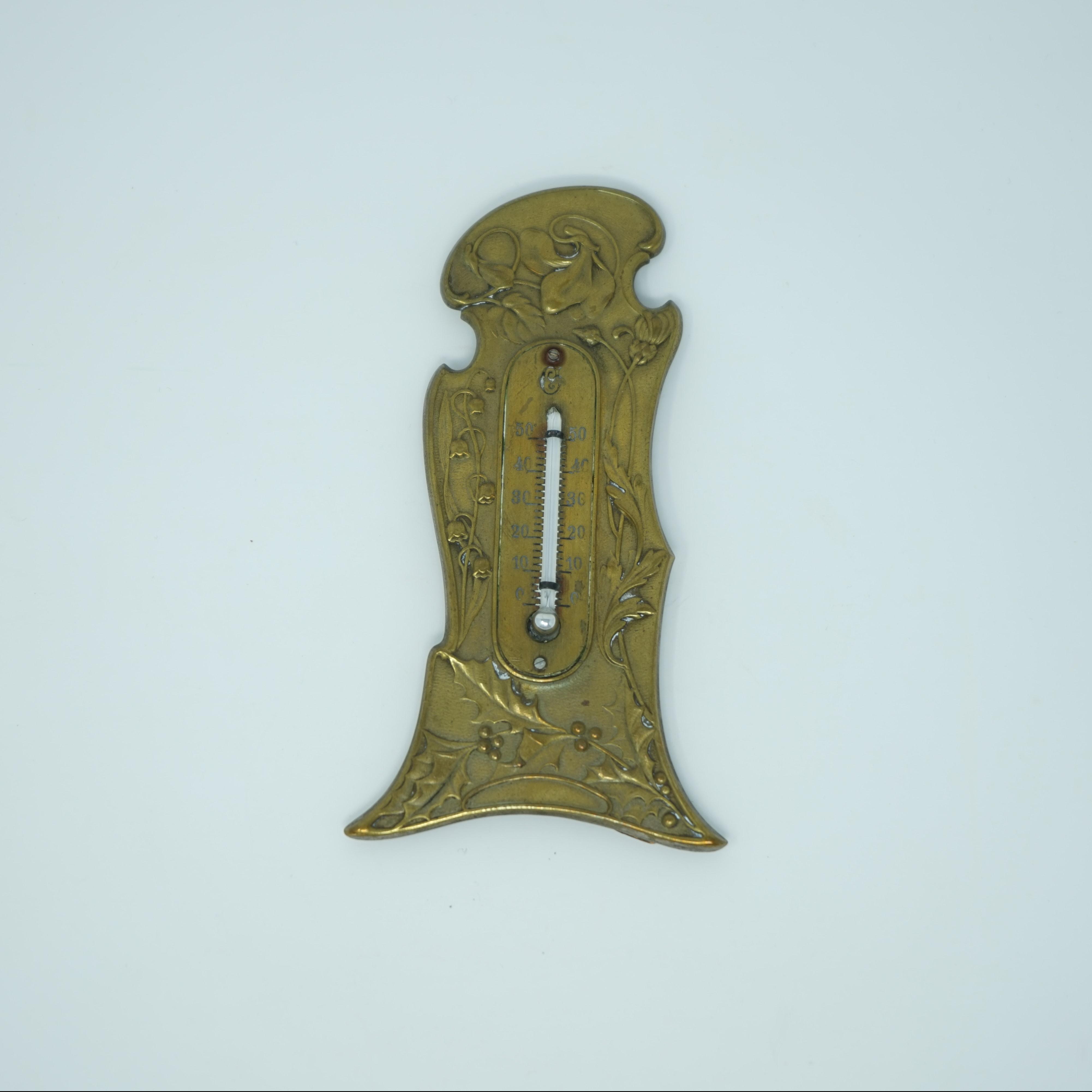 Thermomètre Art Nouveau à Poser