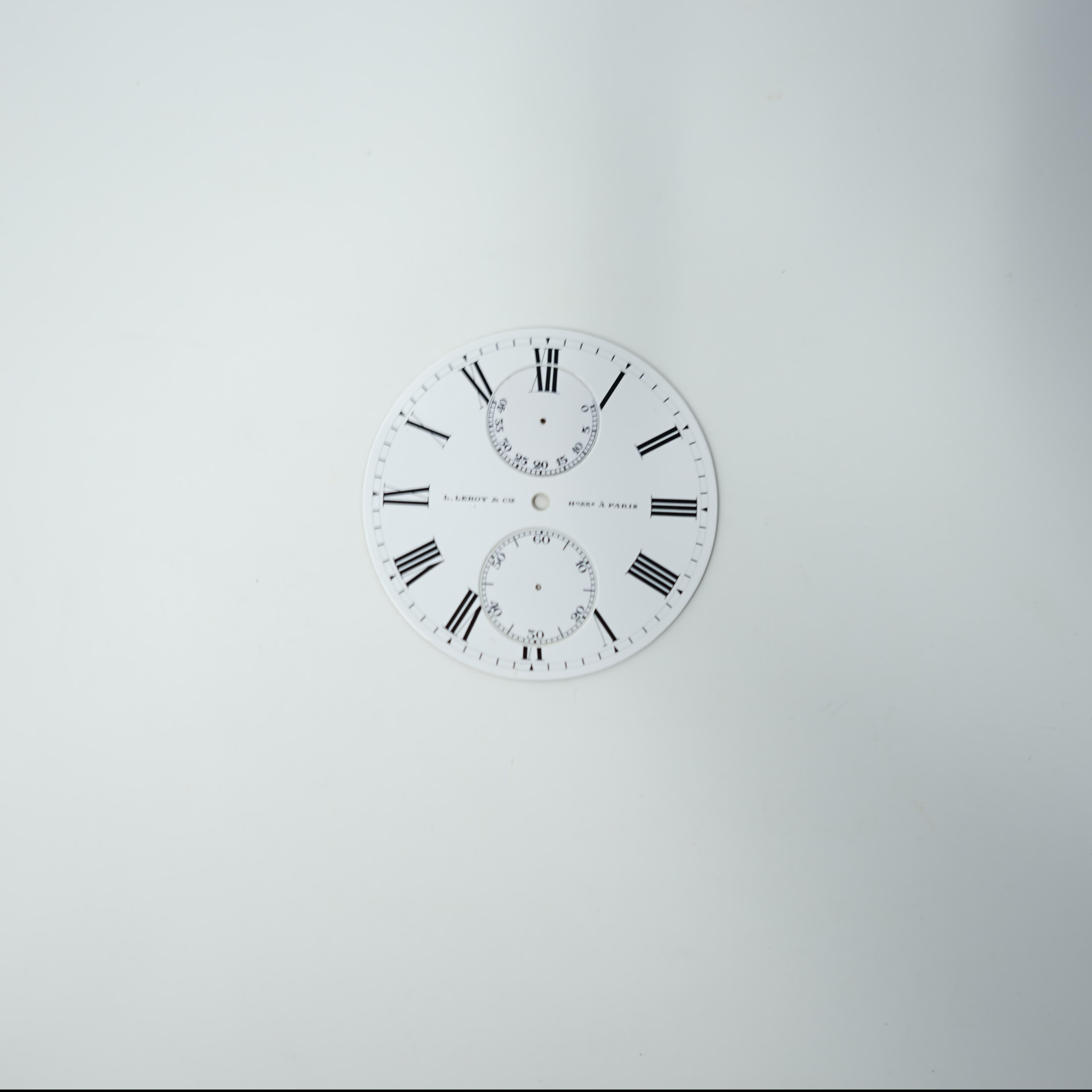 Cadran Leroy Horlogers à Paris