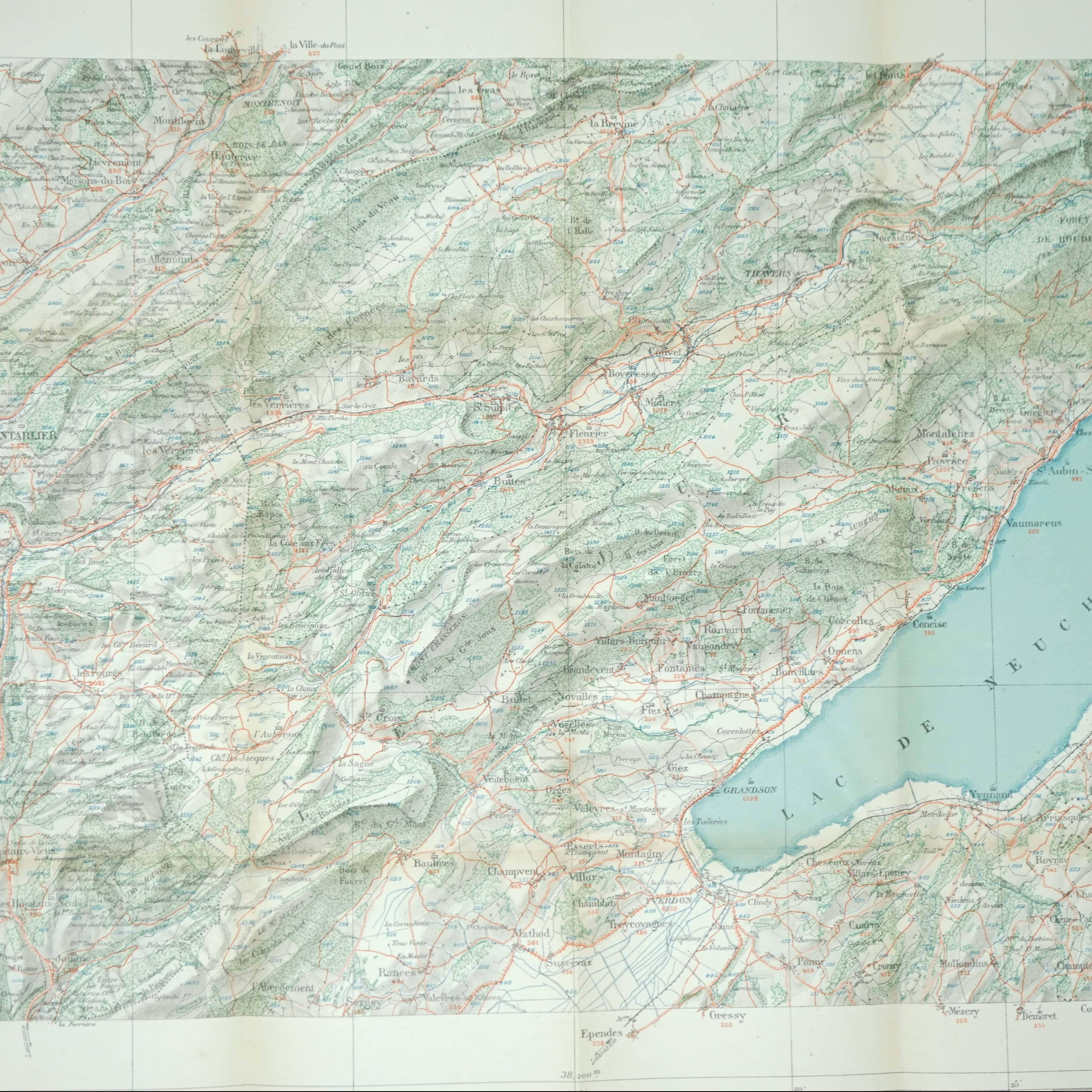 Carte Ancienne de Pontarlier