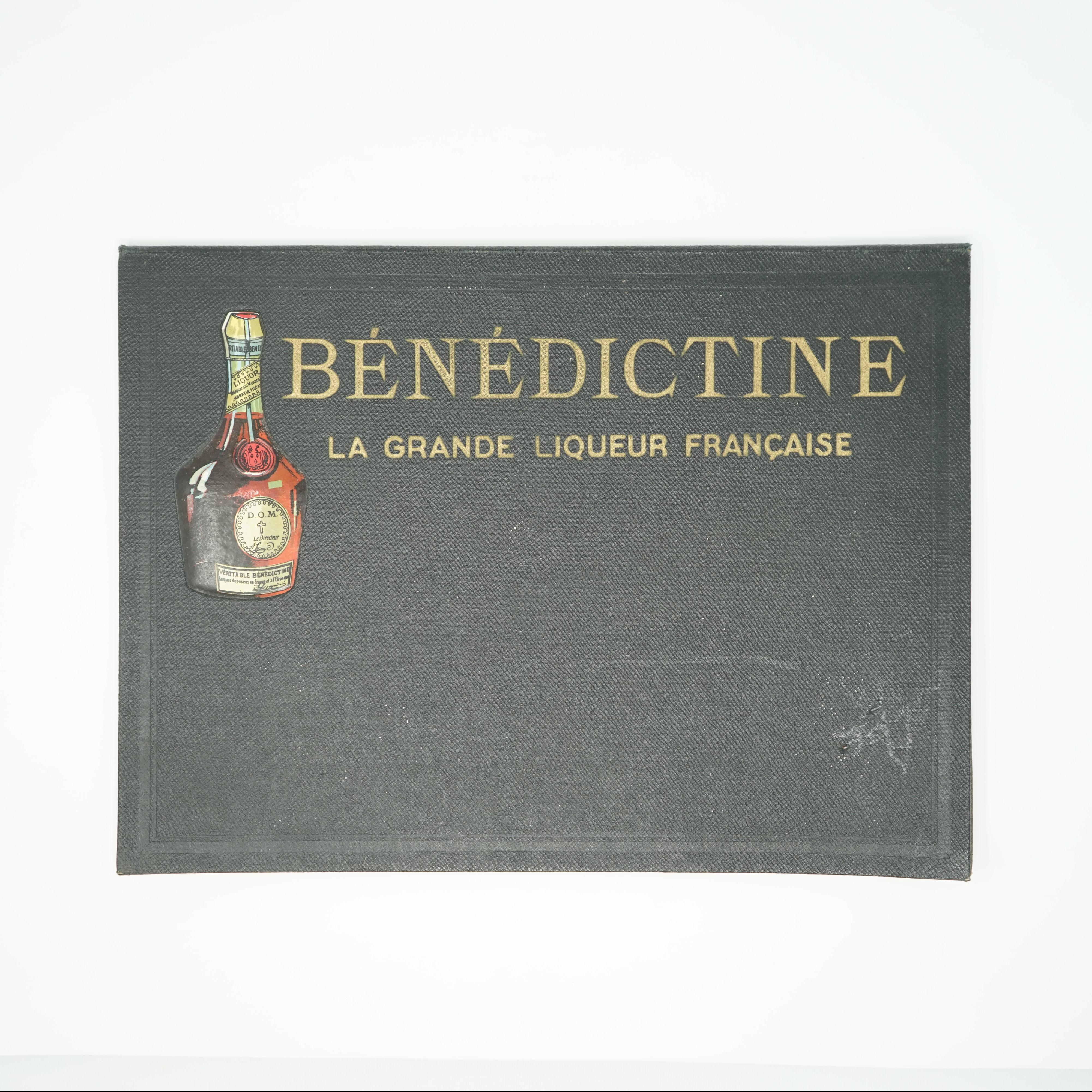 Porte-Menu Bénédictine Ancien
