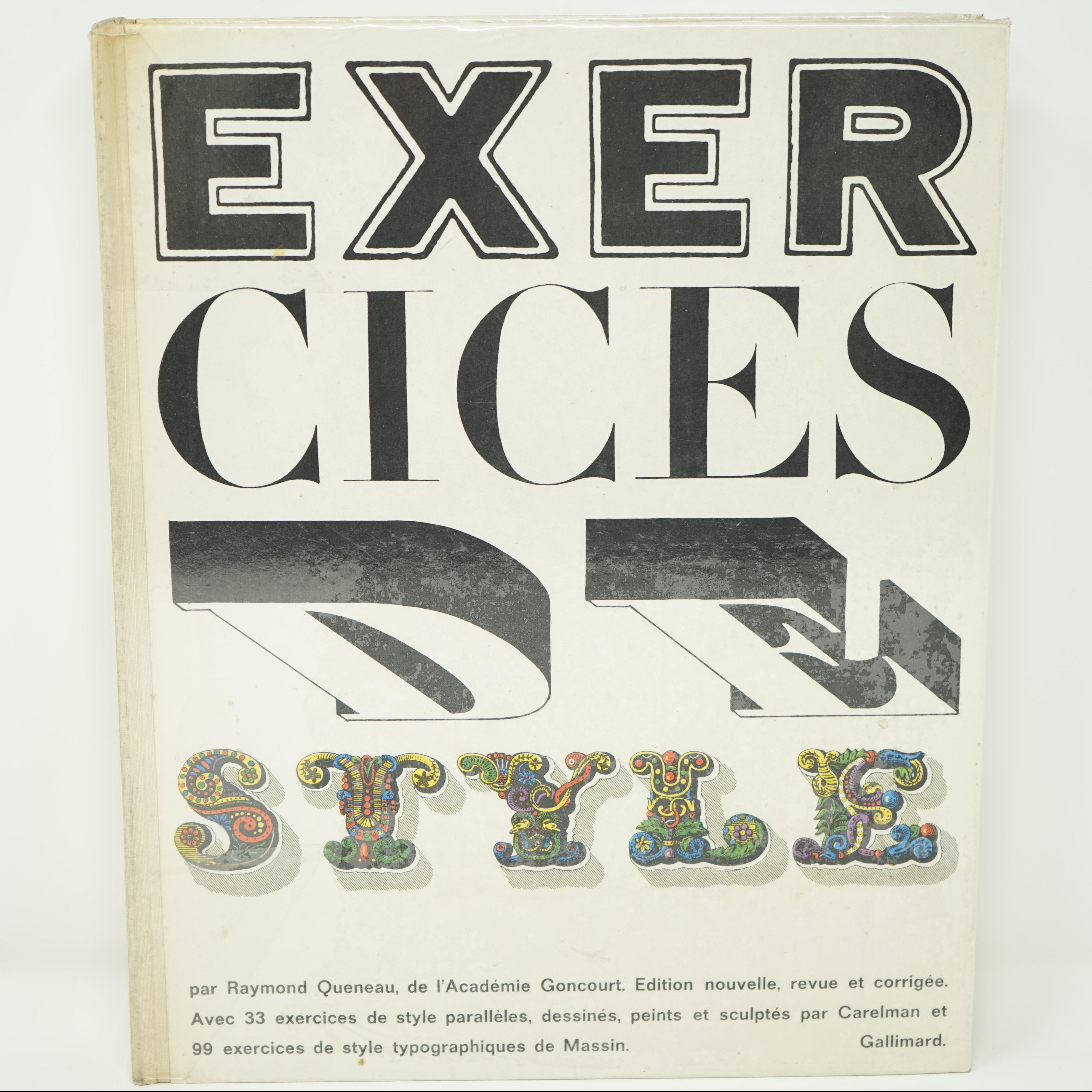 Livre Exercice de Style de Raymond Queneau