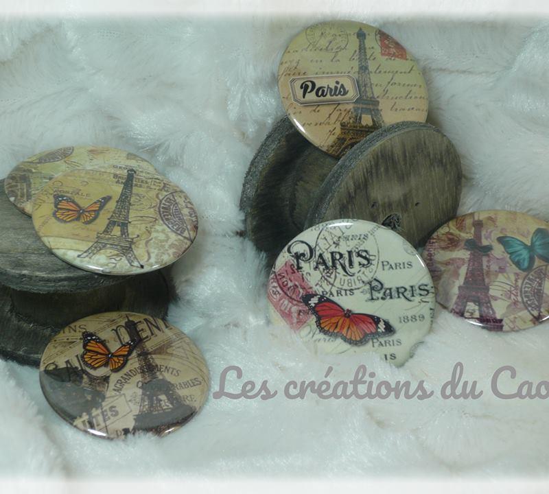 Badges, magnets, miroirs, porte-clés, marque-pages ...