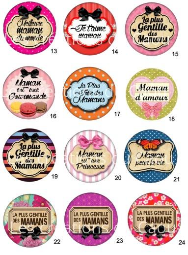 Images pour petits cadeaux maman : magnet, badge, miroir, porte-clés, marque-page
