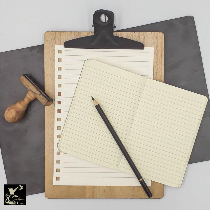 carnet A6 papier ligné ivoire