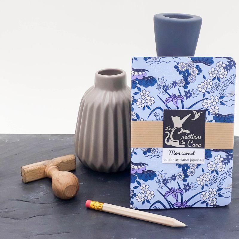 Carnet A6 - Fleuri fond bleu ciel