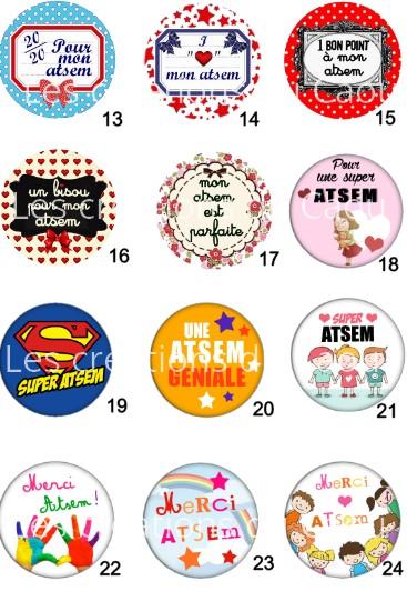 Images galerie : Images pour petit cadeau pour les ATSEM : magnet, miroir, porte-clés, décapsuleur, badge, marque-page.