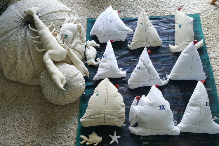Coussins bateaux,homard , ousin géant