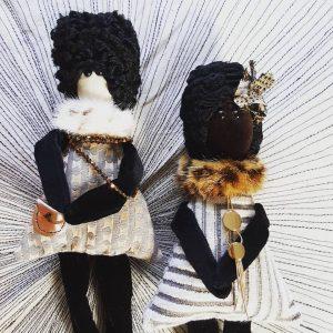 poupées textile, tecniques mixtes, pièces uniques, Fred Petit, France