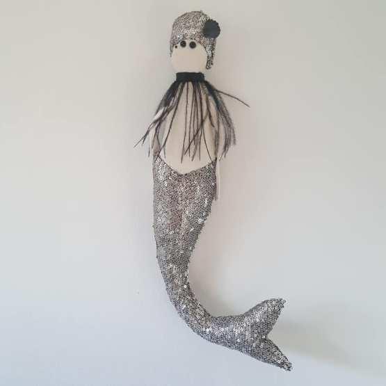 sirène, poupée sirène, mermaid doll,Frédérique petit, made in france