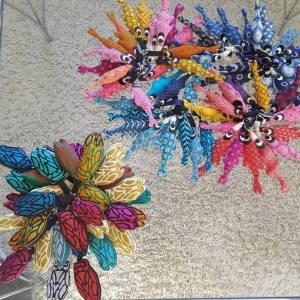 cigales-brodés-et-porte-clés-sardines, créations textiles fred Petit, made in France
