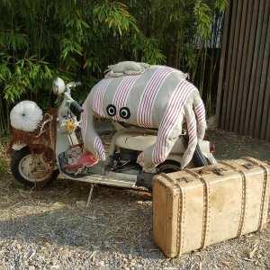 Pouf crabe déhoussable, créations textiles Fred Petit
