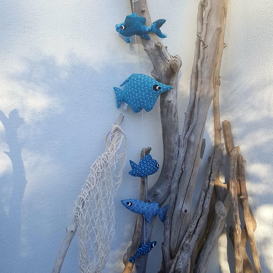 suspension aquatique, créations textiles, fred Petit