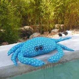 petit crabe repose-tête turquoise