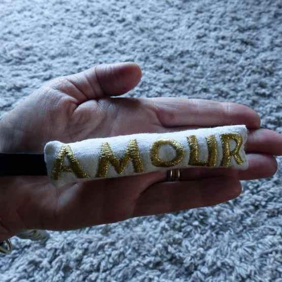 porte-clé amour, L'amour à portée de main, créations textiles, Frédérique Petit, Made in France