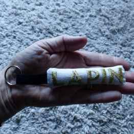 Lapin, porte-clé lapin, créations textiles, Fred Petit