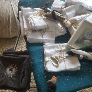 petit linge brodé, poupées rock,créations textiles, Fred Petit