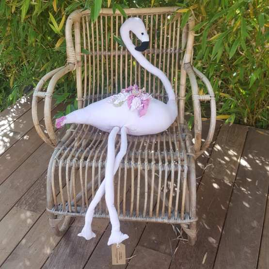 Flamant rose, déco, création textile, Fred Petit, pièce unique