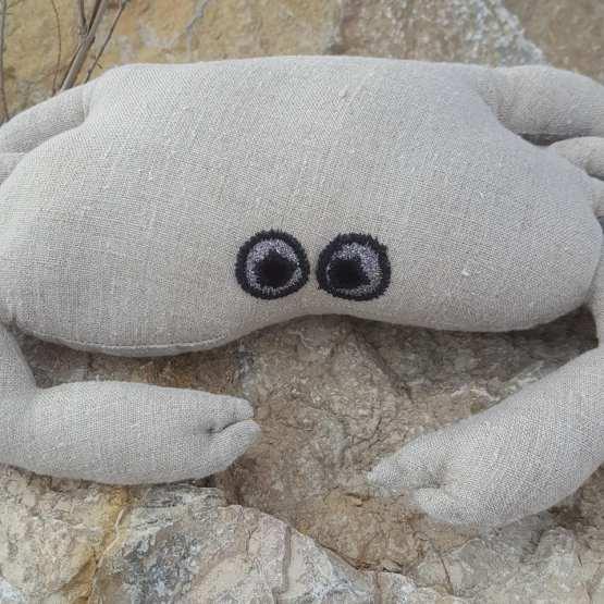 détail yeux crabe lin