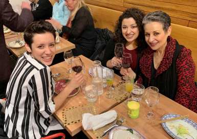 Dame Gina Voci was joined by her two daughters!