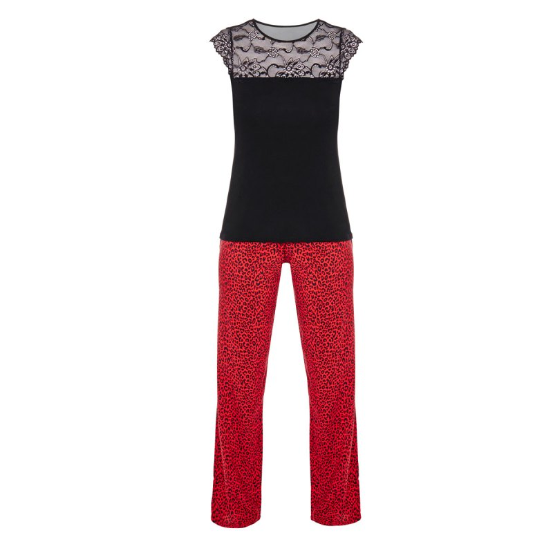 pyjama-noir-rouge-midnight les deboires de carlita