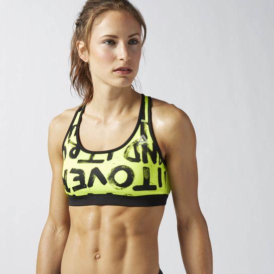 boutique en ligne coups de coeur sportswear brassière sport jaune fluo reebok les déboires de carlita