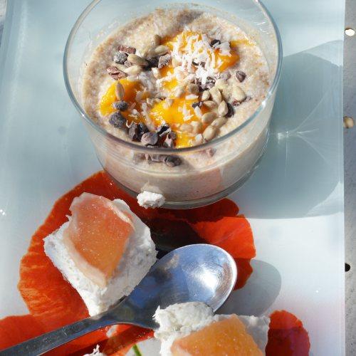 Dessert crus et frais au restaurant Les délcies de Nini