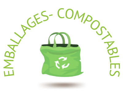 Eco-responsabilité par l'utilisation d'emballage compostable