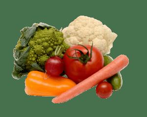 Sélection de légumes frais