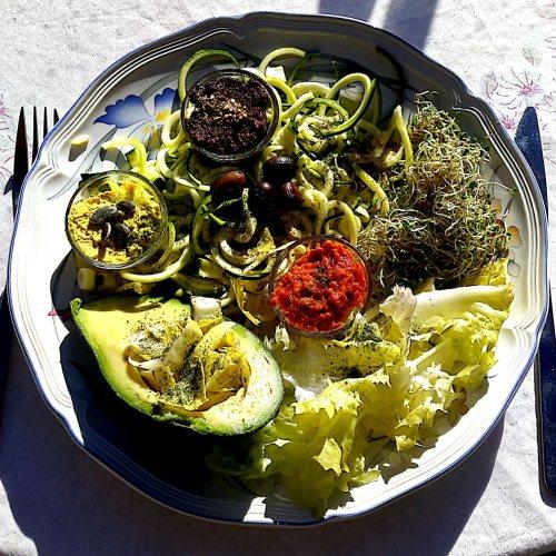 Les Délices de nini : Plat légumes  cru