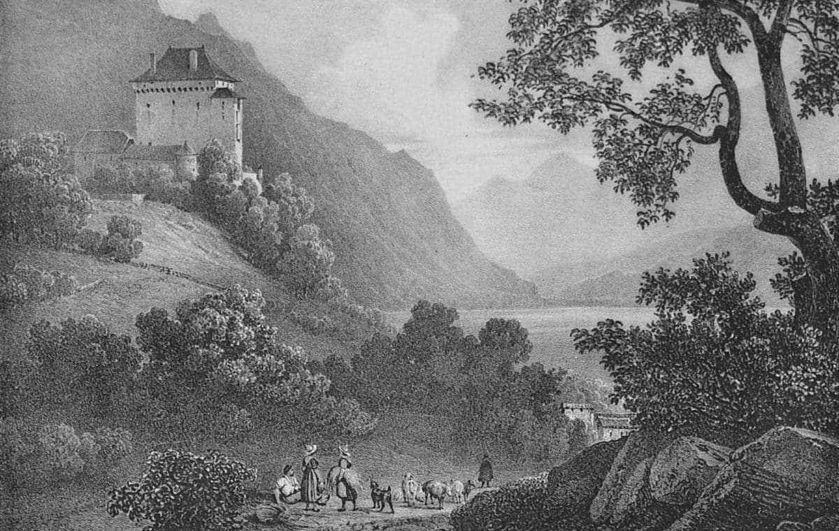 Gravure. Château du Châtelard